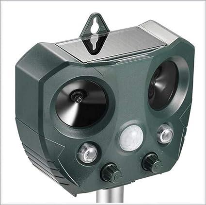 2pcs Batterie Solaire Répulsif Répulsif à Fox Cat Repeller Ultrasonique Répulsif Chaser
