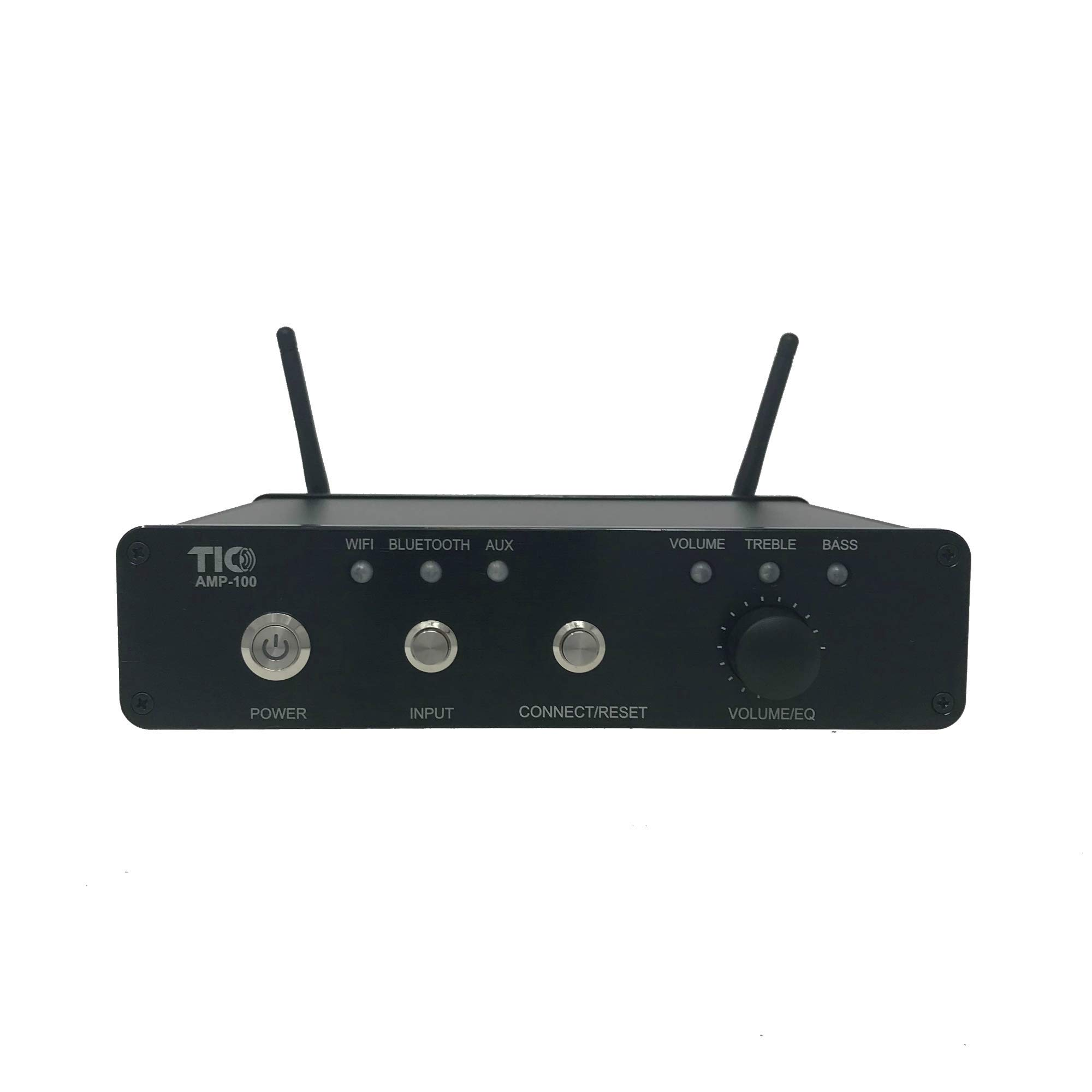 TIC AMP100 200W 4-Channel Indoor-Outdoor WiFi-Bluetooth Multiroom Amplifier with AirPlay by TIC