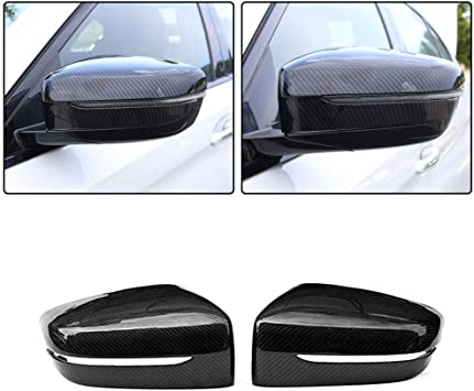 Replacement Carbon Fiber Rear Side Mirror Cover Cap For BMW G30 G31 G38 5 Series