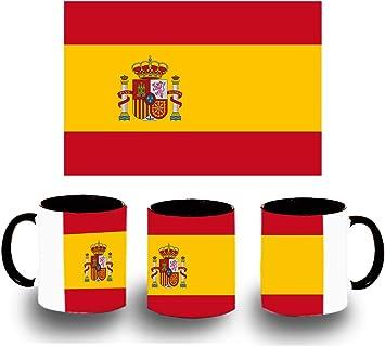 Taza Negra Bandera ESPAÑA Pais Unido Color mug: Amazon.es: Deportes y aire libre