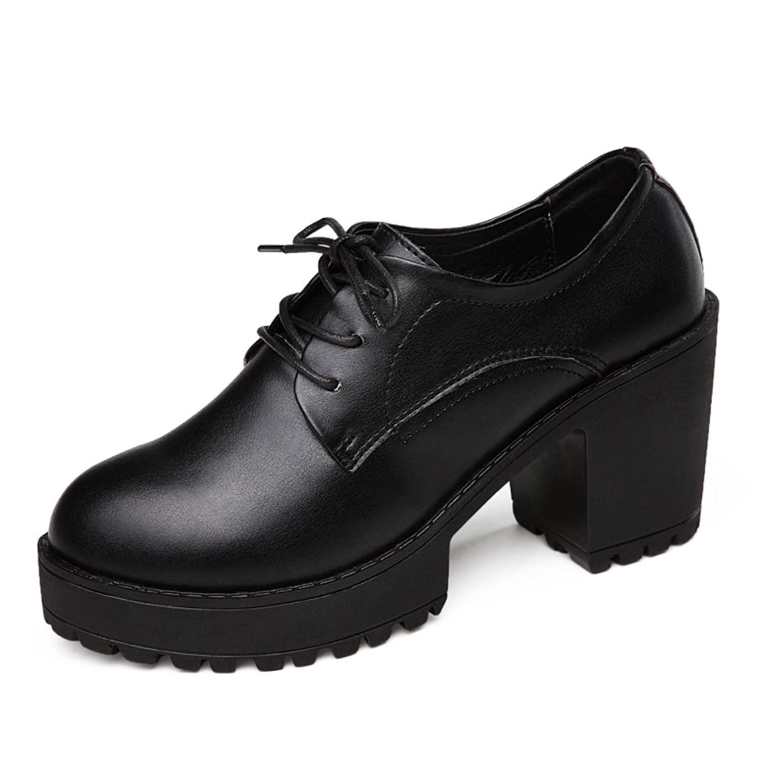 687b459c38 durable modeling spring heeled shoes/Chunky heels shoes in Europe/ water  professional shoe/