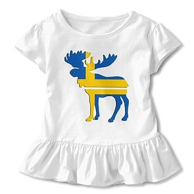 Elk Baby Girls Short Sleeve Tee Clothes