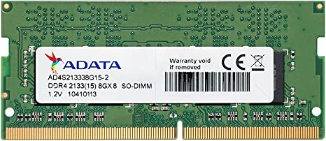 ADATA Premier ADT DDR4 SO-DIMM 2133 8GB RAM Memory at amazon
