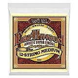 Ernie Ball Earthwood juegos de luz 80/20bronce, .011–.052(paquete de 3)