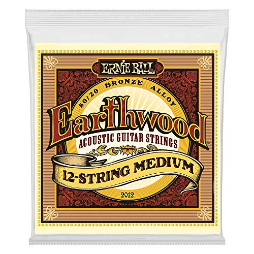 Ernie Ball Earthwood 12-String Medium 80/20 Bronze Acoustic Set, .011 - .052