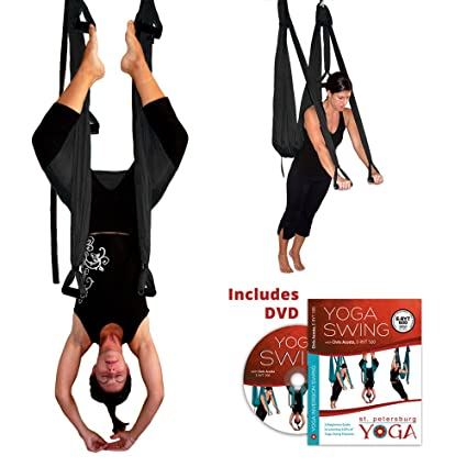 Amazon.com : Black Yoga Inversion Swing + Yoga Swing DVD by ...