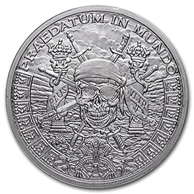 Pieces of Eight Privateer Pirate - 1 oz Silver Shield Round: Industrial & Scientific