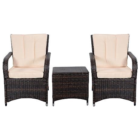 Amazon Tangkula 3 PCS Outdoor Patio Sofa Sets Rattan
