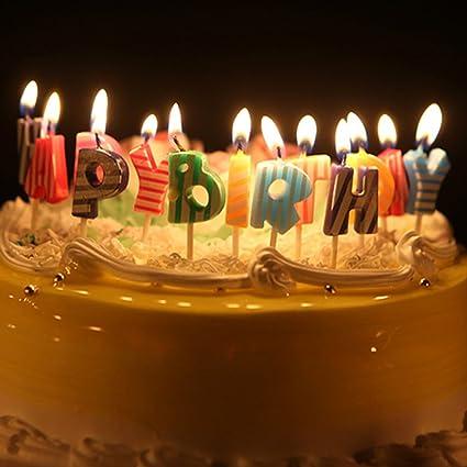 Amazon Sundlight Happy Birthday Candles Smokeless Cute Cartoon