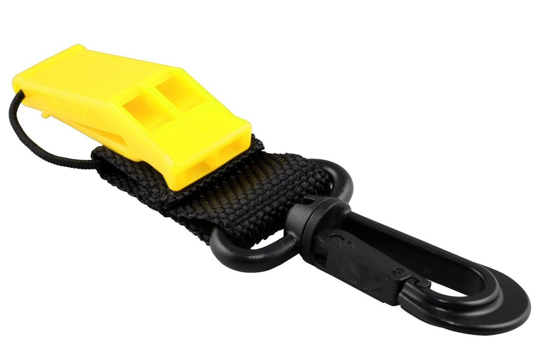 Storm Accessories Storm Scuba Divers Safety Whistle with Clip, Orange Phantom Aquatics SWL-OR