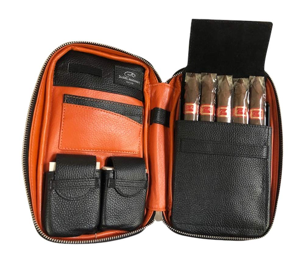 Daniel Marshall Leather Travel Cigar Case