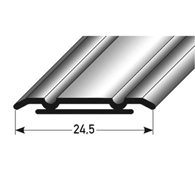 selbstklebend Bodenprofil zum Kleben bronze dunkel * 24,5 x 1,25mm * Robust * Kratzfest acerto 33612 /Übergangsprofil aus Aluminium 100 cm /Übergangsleiste f/ür Teppich| Alu /Übergangsschiene