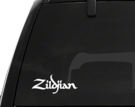Amazon com 2 x zildjian vinyl sticker decal 5 5 x 2 3 apple macbook laptop car trucks automotive