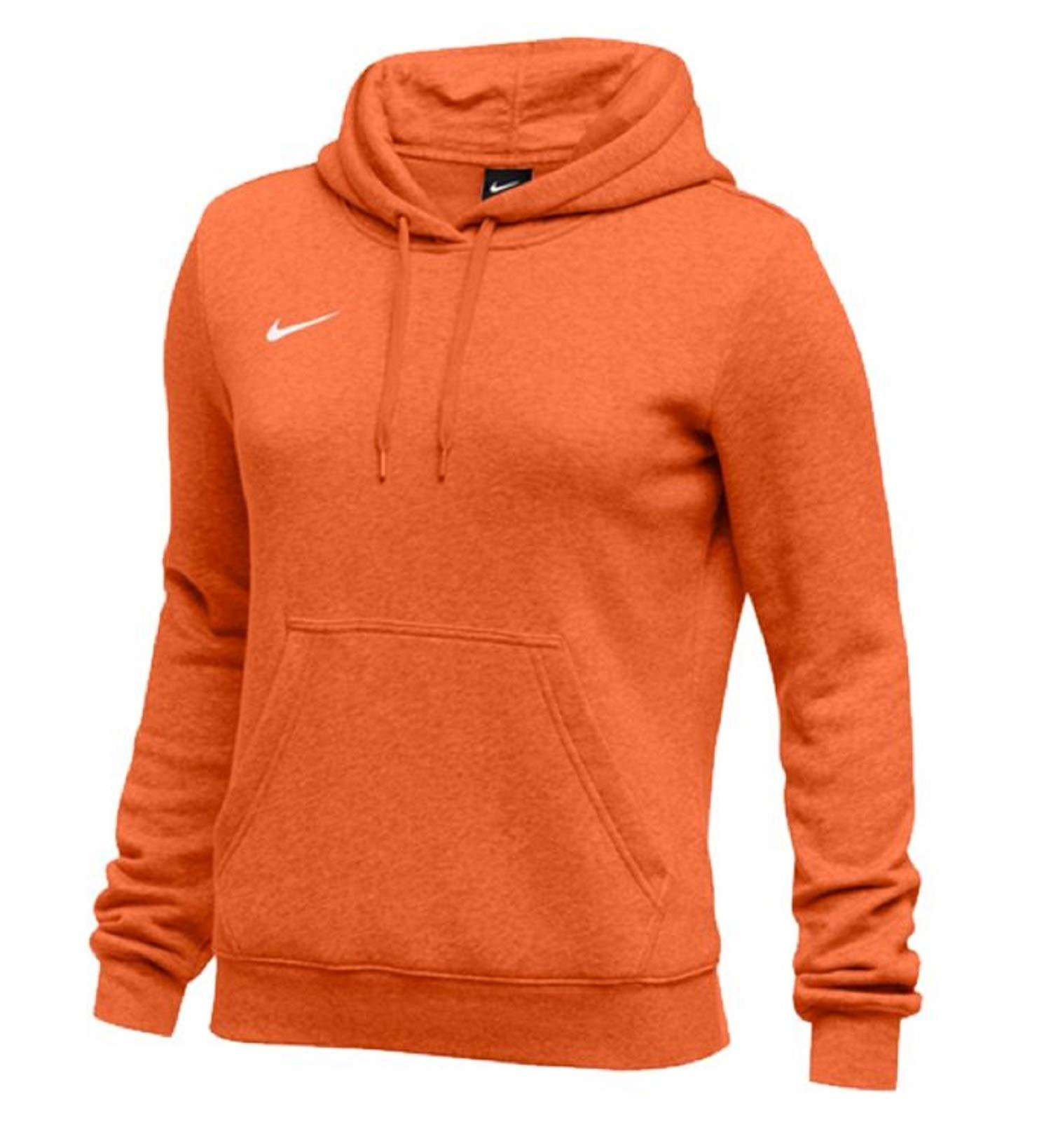 Nike Womens Pullover Club Fleece Hoodie (Small, Orange) by Nike