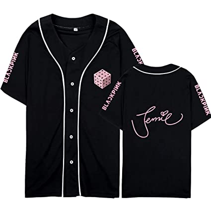 Amazon.com   Kpop Blackpink New Album Baseball T-Shirt Jersey Rose ... e0c16b873