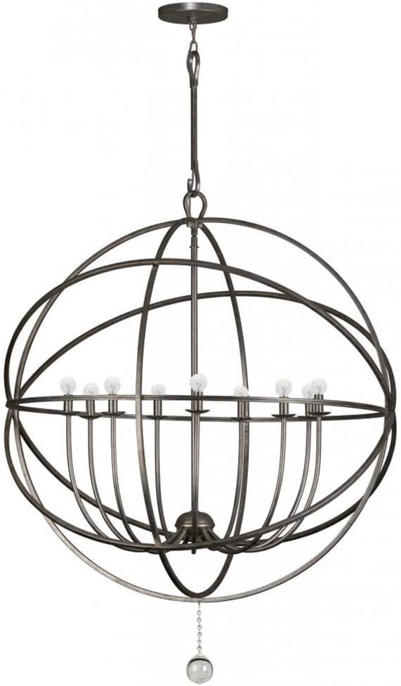 Crystorama 9229 Eb Transitional Nine Light Chandeliers From Solaris Collection In Bronze Darkfinish Amazon Com