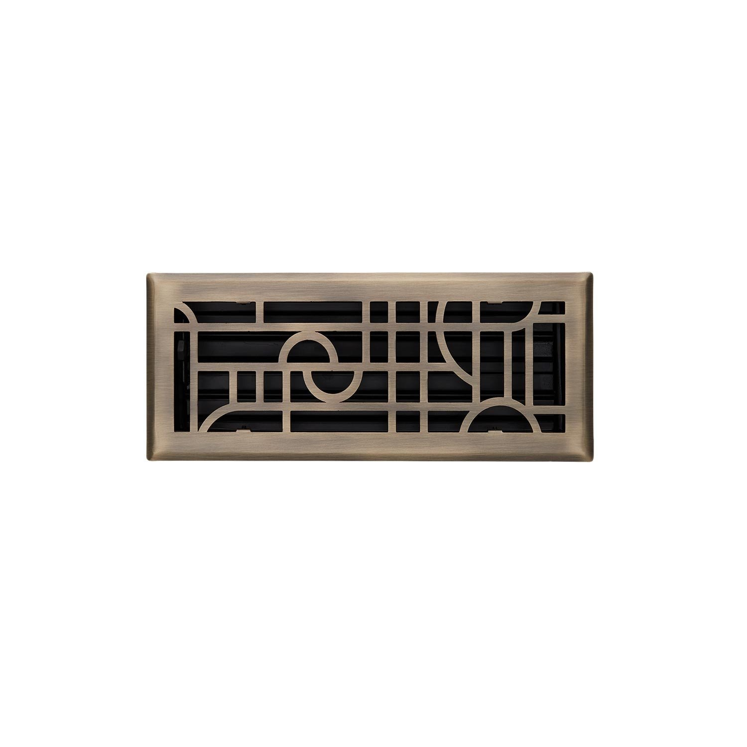 Steel Floor Register in Antique Copper Finish Naiture NIC 3-3//4 X 12 5-1//4 X 13-3//8 Overall