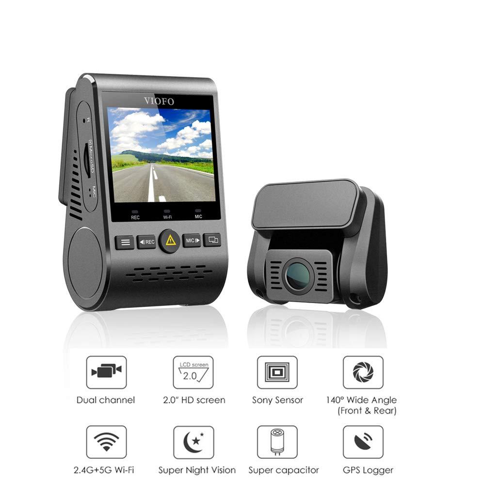 VIOFO Camé ra Embarqué e de Voiture A129 Duo Dual Channel 5GHz WiFi Full HD Dash Cam GPS G-Sensor 1080P Double Camé ra Voiture Avant et Arriè re avec é cran 2, 0 Pouces (A129 Duo avec GPS) VIOFO A129 Duo