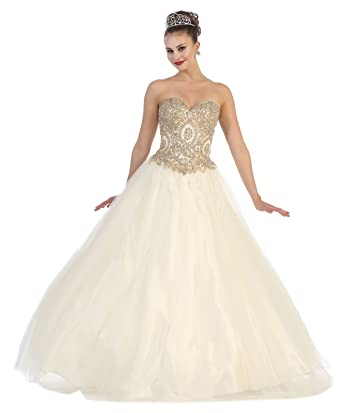 c79bdaae9d7 Layla K LK74 Strapless Sweet 16 Ball Dress at Amazon Women s Clothing store