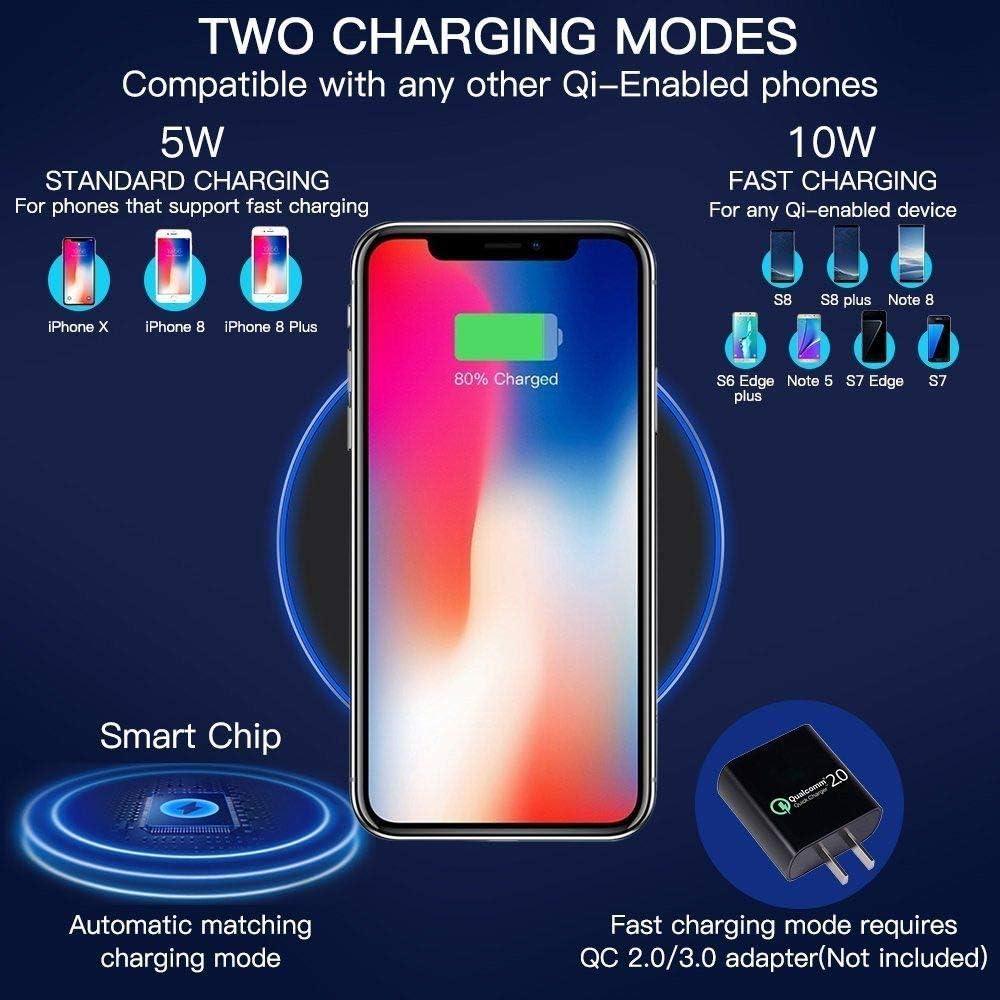 I-Sonite Noir Chargeur de Station de Charge sans Fil Ultra-Mince Ultra-Rapide 10W /à Cadre m/étallique certifi/é Qi et Puce de Module r/écepteur Qi Ultra-Mince Samsung Galaxy J7 2017