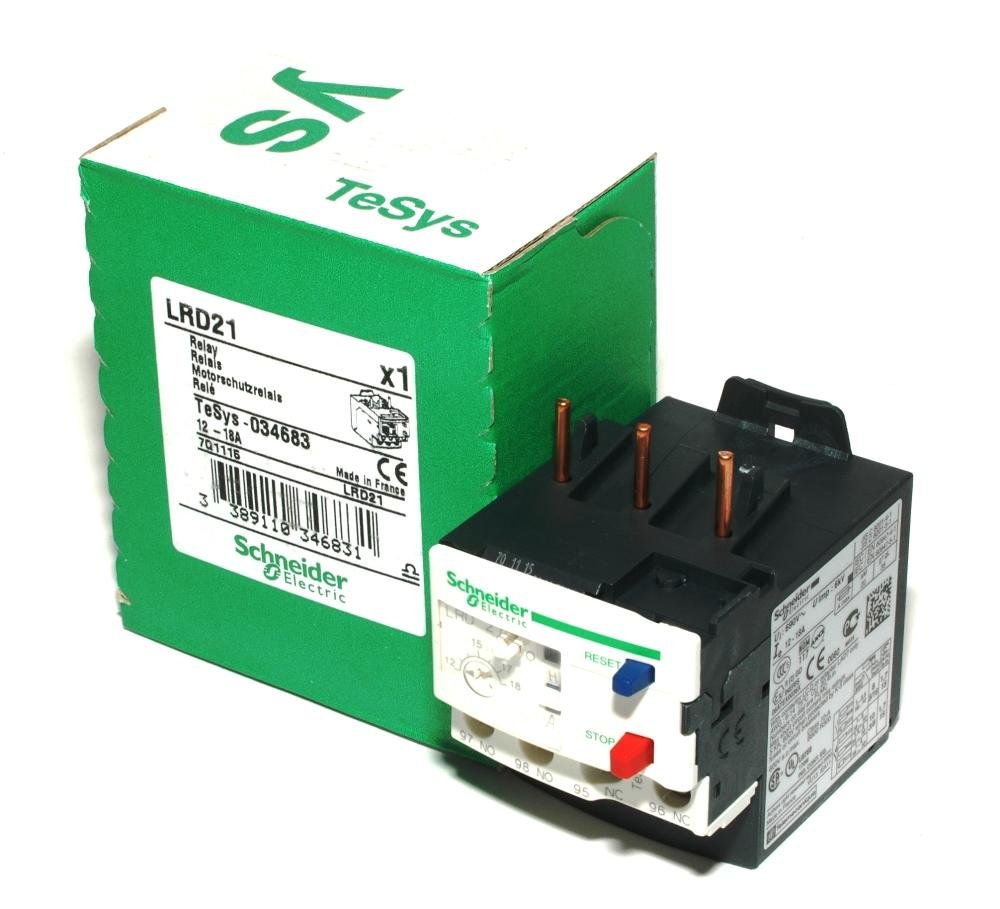 SCHNEIDER ELECTRIC Bimetallic Overload Relay 600-Volt 18A Iec LRD21 Busway Elbow