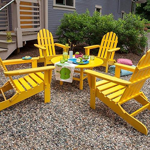 POLYWOOD PWS119-1-LE Classic Adirondack Seating Set, Lemon