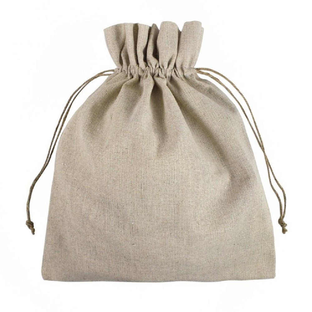Amazon.com: Linen Favor Bags Hemp Drawstring Cord Rustic Wedding ...