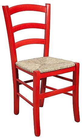 Et Massif Assise Rouge Bois Laquée Chaise D' Hêtre Finition En sthrdQ