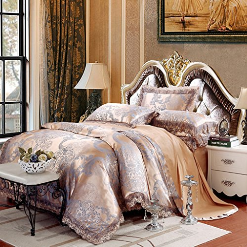 Belles Maison Satin Embroidery Duvet cover set Luxury Europe