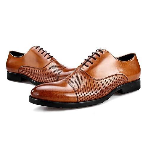 37c39e5118e JUNBOSI Zapatos de vestir de verano para hombres - Zapatos de negocios de gama  alta - Sandalias respirables ...