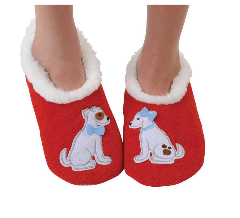 Snoozies Womens Classic Splitz Applique Slipper Socks SNZ-SNZSP-PSKU