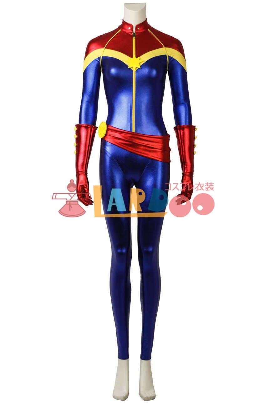 キャプテンマーベル キャロルダンバース Captain Marvel Carol Danver コスプレ衣装 ハロウィン cosplay B07C3M65SX 女 XL  女 XL