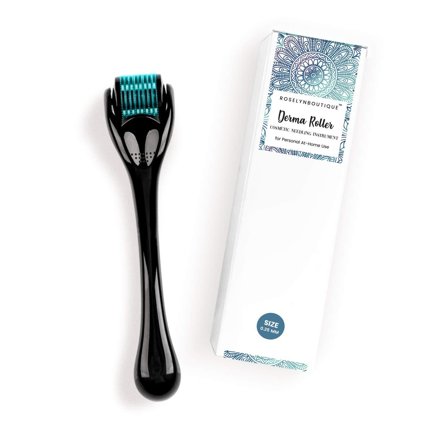 Amazon Com Roselynboutique Derma Roller 540 Titanium Microneedle 0 25mm Cosmetic Beauty Instrument Kit Storage Case 1 Pack Beauty