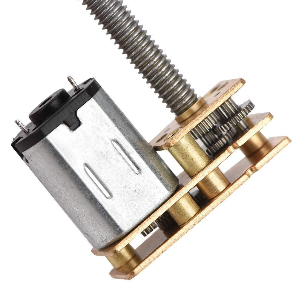 eje de salida de rosca de tornillo de plomo de alta precisi/ón accesorio de tornillo de bola 6V 200RPM Motor de engranaje DC 6V//12V motor de tornillo de bola M4 x 55 mm