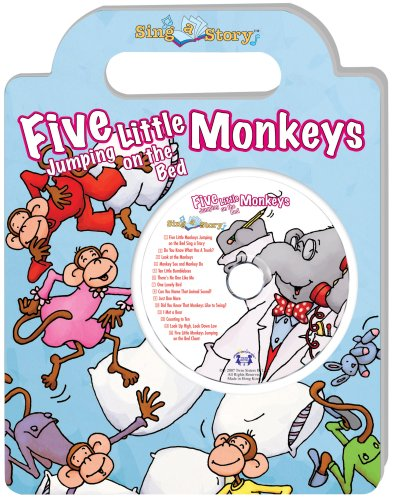 Twin Handled (Five Little Monkeys Jumping on the Bed Sing a Story Handled Board Book with CD)