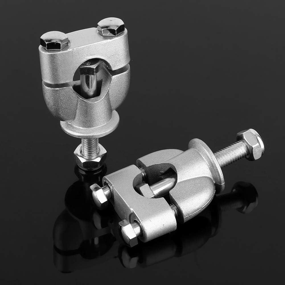 Elevadores de manillar de motocicleta 1 par 7//8 de pulgada 22 mm Soporte de manillar plateado Abrazadera de montaje para montaje de elevador de manillar ATV de motocicleta