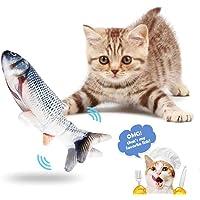 Dancing Fish Cat Toy, Catnip Toys Rolig elektrisk plyschdocka Fish Kicker Toy för katt och kattunge (A)