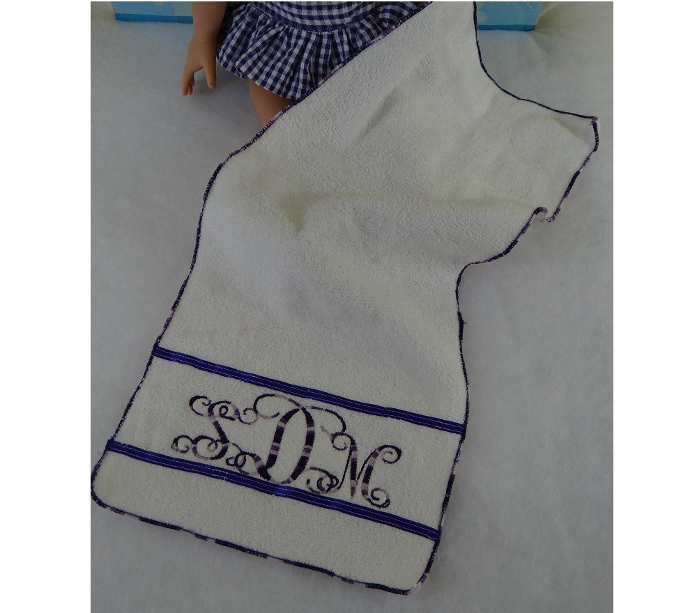 18 Doll Clothing Personalized TOWEL With Your Monogram