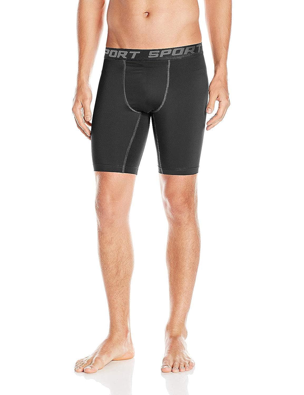 DEYI Mens Athletic Compression Shorts Running 3 Pack Tight Sports Shorts