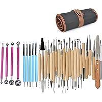 Herramientas de cer/ámica para modelar y tallar inherited 14 piezas Kit de herramientas para modelar arcilla Polymer Clay Herramientas Con bolsa de almacenamiento