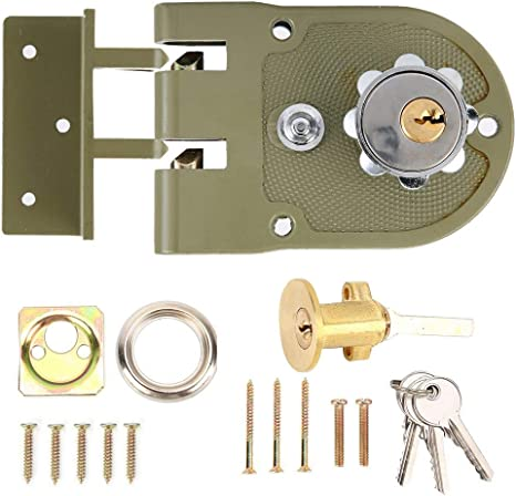 Nannday Cerradura de Puerta mecánica antirrobo, Seguridad para el hogar Duradera de aleación de Zinc con Kits de Bloqueo de Cilindro de Cerradura(1#): Amazon.es: Electrónica