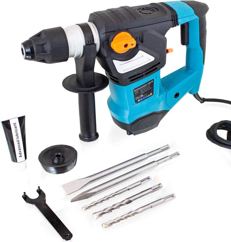 Bituxx Schlagbohrer Bohrhammer 1800W Schlagbohrmaschine Abbruchhammer SDS+