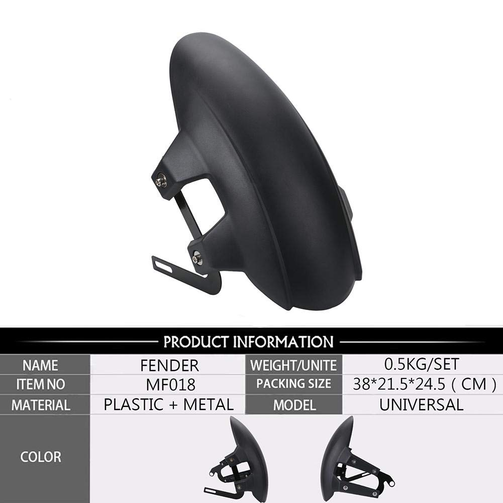 Plastique Moto Garde-Boue arri/ère Moto Universel de Roue arri/ère Fender Noir