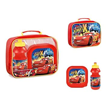 Kids Lunch Bag Set With Sandwich Box And Bottle Disney Cars