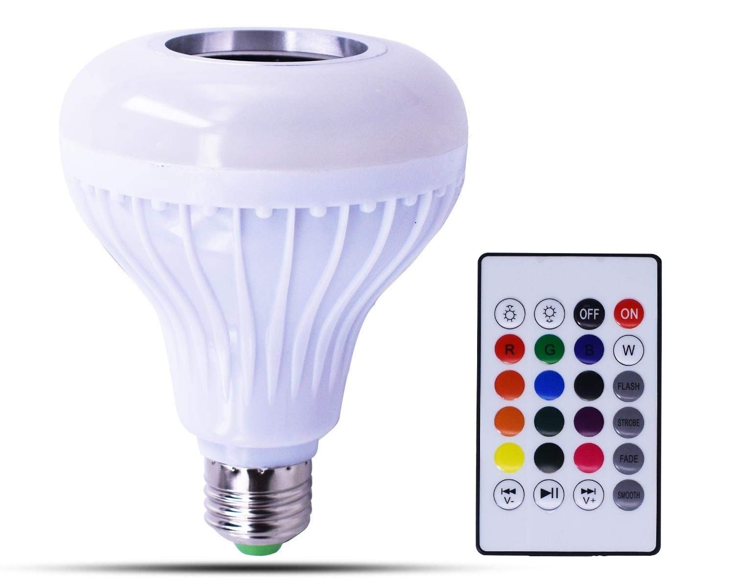 Canmox LED MUSIC BULB SPEAKER- Multi-color changing LED light bulb with Built-in Stereo Speaker connected by Bluetooth/wireless