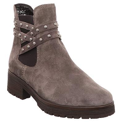 a34cc90c92118e Gabor Comfort 92.094-32 Damen Sportiver Chelsea Boots aus Veloursleder  Weite G