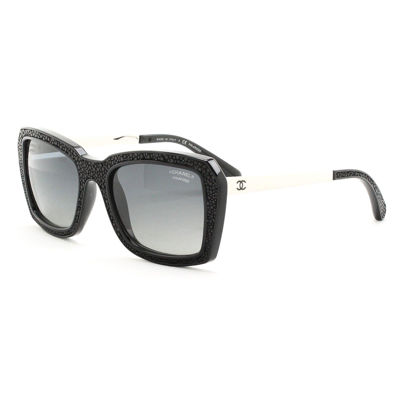 Amazon.com: Chanel 6047q Plaza anteojos De Sol 501/S8 Negro ...