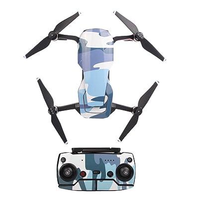 Gaddrt Waterproof PVC 3D Stickers autocollant peau Cover protecteur pour dji Mavic air drone RC (B)