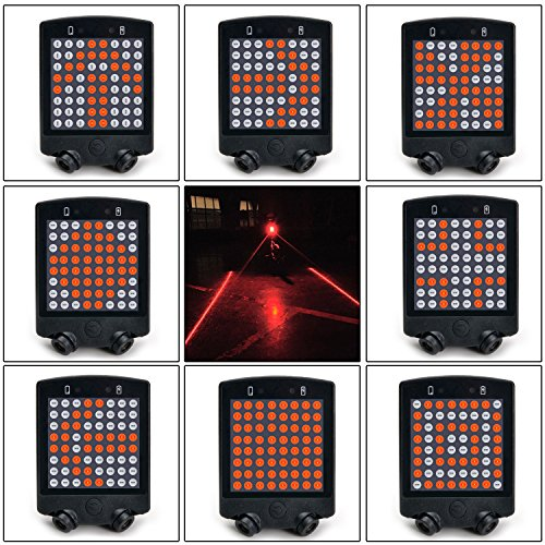64LED Remote Control Rechargeable Bike Rear Tail Light Turn Signal LaserWireless