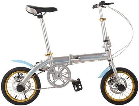 GHGJU Frenos De Disco Plegables De Aleación De Aluminio De Bicicleta Plegable De 14 Pulgadas Bicicleta De Ciclismo Hombres Y Mujeres,Red-18in: Amazon.es: Hogar